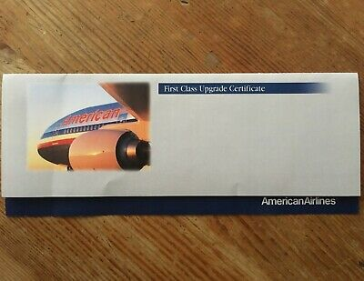 American Airlines First Class Upgrade Certificate
