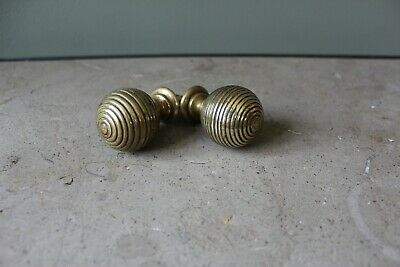 Antique Victorian Cupboard Door Knobs Beehive Solid Brass Vintage Reclaimed