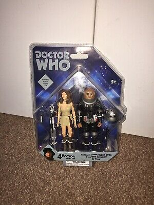 Dr Doctor Who Leela & Storr Set Unopened Rare Action Figures Sontaron Invasion