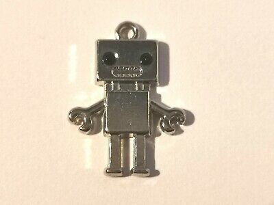 Cute Silver Tone Robot Pendant - Metal Detecting Find