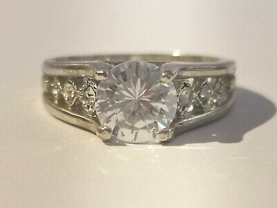 Gorgeous Silver Tone Clear Stone Ring - Metal Detecting Find