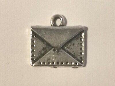 Little Silver Tone Envelope Charm - Metal Detecting Find