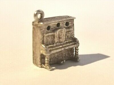 Vintage Sterling Silver Piano Charm - Metal Detecting Find