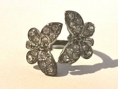 Pretty Silver Tone Butterfly Ring - Metal Detecting Find