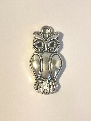 Lovely Silver Tone Owl Pendant - Metal Detecting Find