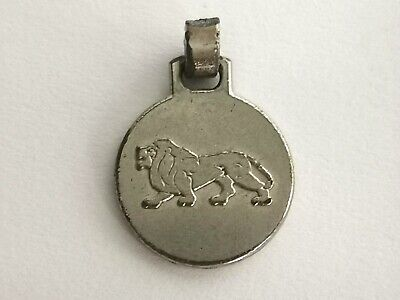 Silver Tone Lion Pendant - Metal Detecting Find