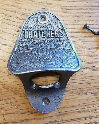 Cast Iron Wall Mounted Vintage Antique Retro Style Bottle Opener - THATCHERS