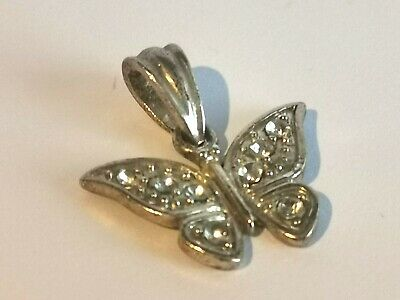 Beautiful Silver Tone Butterfly Pendant - Metal Detecting Find