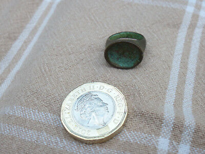 Roman Bronze Ring 2nd / 3rd Century Wearable Lovely Patina UK Find