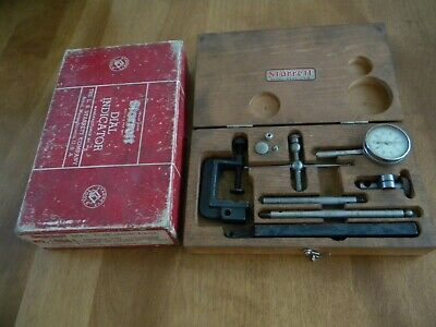 Vintage Starrett Dial Test Indicator #196A in original box and Wooden Case USA