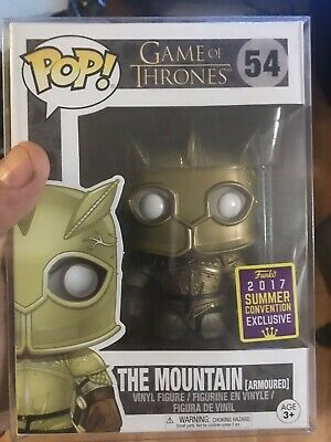 FUNKO POP GAME OF THRONES SDCC ARMORED MOUNTAIN. 45mm Protector IN HAND #54