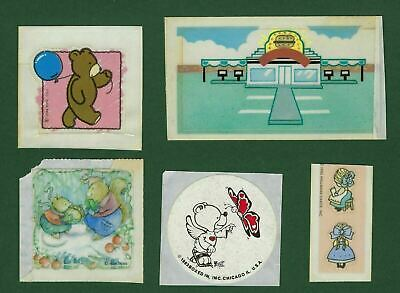 Vintage 80's Hallmark Stickers Lot of 6 FLAWED