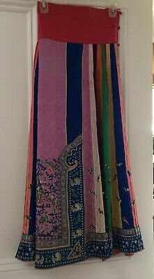 Antique Chinese Silk Skirt, Embroidered