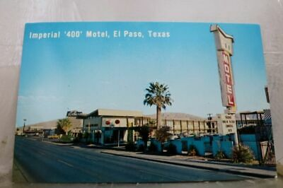 Texas TX El Paso Imperial 400 Motel Postcard Old Vintage Card View Standard Post