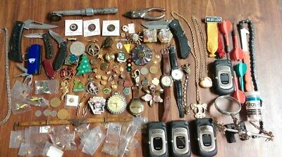 Junk Drawer Stuff... Knives Watches Pins Tools Jewelry Phones Darts & Misc..