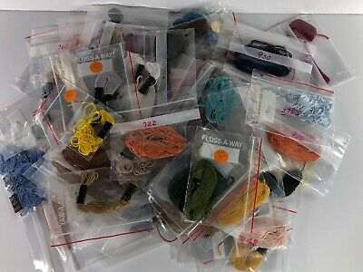 DMC 25 Mouline Special Lot Of 66 Floss Various Colors 8M Made In France