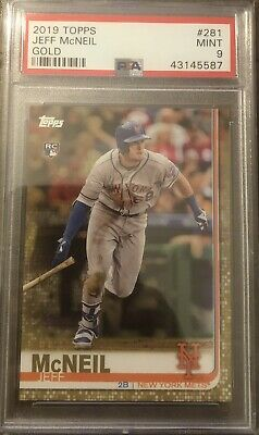 2019 Topps Series 1 Jeff McNeil Gold Parallel /2019 PSA 9 Mint RC Mets Rookie