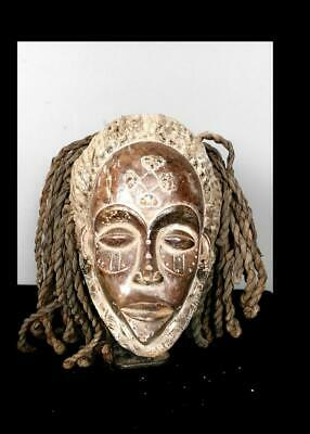 Old  Tribal Chokwe Rasta  Mask        -  Angola BN 55