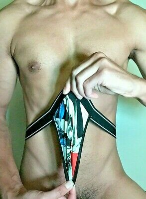 Sexy Backless Jock in Tropical Prints New Men's Underwear