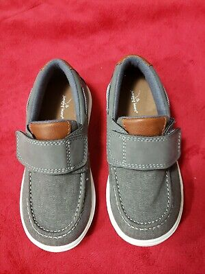 JUMPING BEANS Toddler Boys Canvas Gray Size 10 Shoe New!