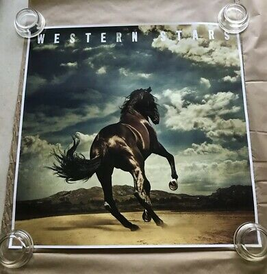 Bruce Springsteen Western Stars Exclusive Album Cover Poster 24x24 Inches