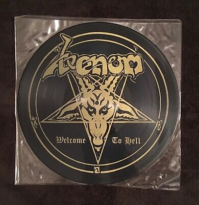 Venom Welcome To Hell picture disc original Neat Records England 1981