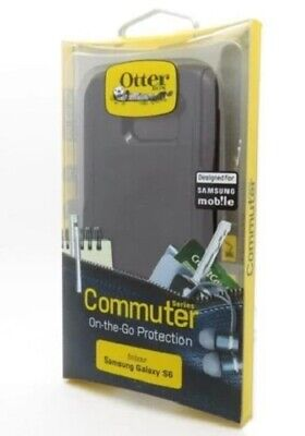 Genuine Otterbox for Samsung S6 Otter Commuter Tough Slim Case Cover Black