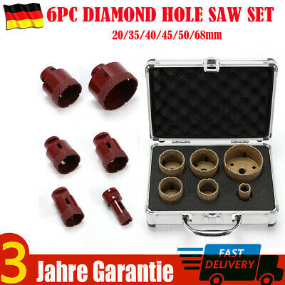 35//40//50//68MM 4PC Diamond Hole Saw Set M14 23*16*13cm diamant drill bits 15mm