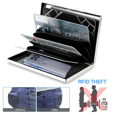 Deluxe Wallet Credit Card & ID Holder Anti RFID Blocking Stainless Steel Case