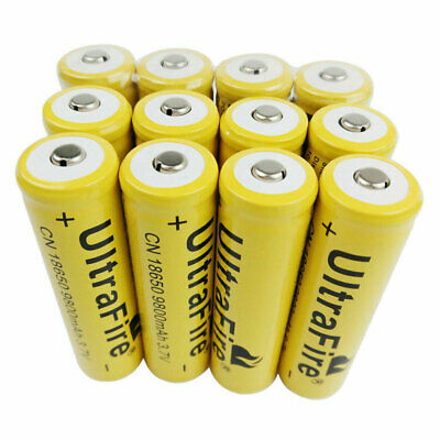 18650 Batterie 9800mAh 3.7V Li-ion Rechargeable Low Drain Battery for Torche FR