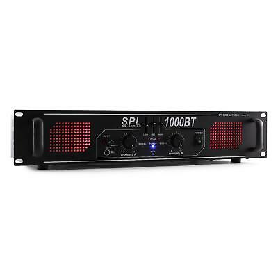 Skytec Spl 1000Bt Amplificatore Bluetooth 1000W Rca Aux Eq 3 Bande Rack 48Cm