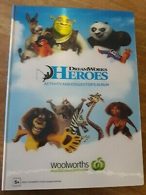 Woolworths DreamWorks Heroes Album Book Folder  complete set cards collectables