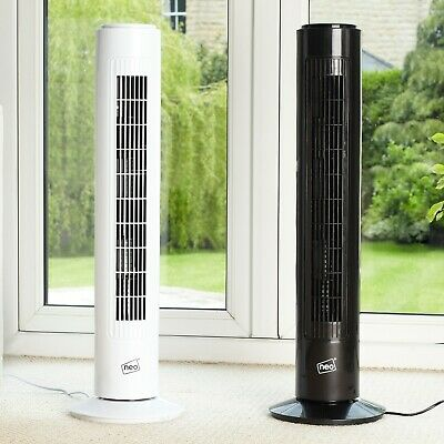 "Neo 29"" Air Cooling Free Standing Tower Fan 3 Speed Oscillating Quiet"