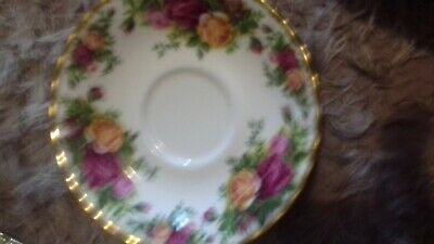 Six Royal Albert Old Country Roses Saucers Excellent Condition