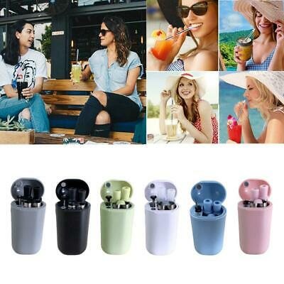 Reusable Metal Folding Collapsible Drinking Straw Portable Cleaning Brush Set N