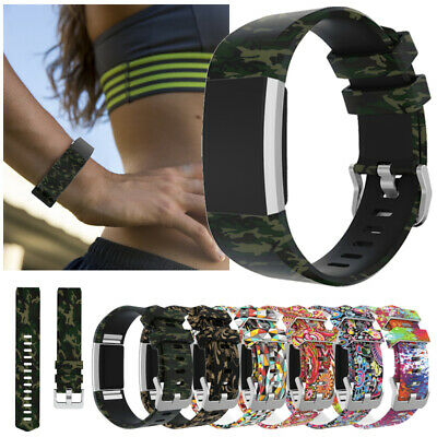 For Watch Charge 2 Smart Watch Bands Strap Bracelet Printed Silicone Wristband
