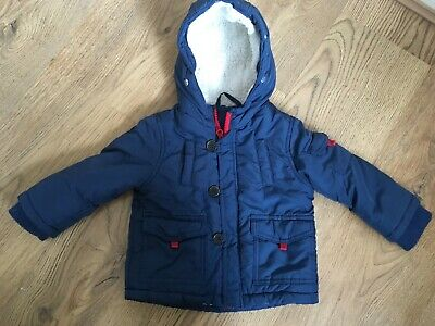 Baby Boys Jackets 9-12 months Winter Coat Navy with fleece lining Mango gr8 con