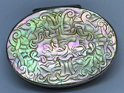 Mother of Pearl & Silver Snuff Box c1695 - William & Mary Period