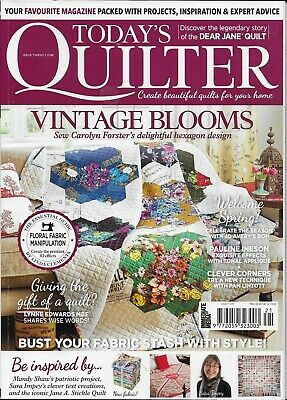 Today's QUILTER Magazine Issue 21 with free gift Creative Triangles
