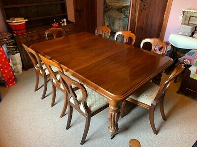 Victorian Mahogany Wind out Dining table