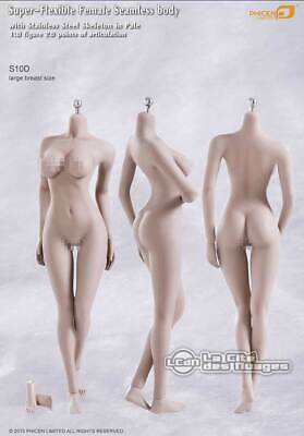 Phicen TBLeague female seamless body Corps large breast PALE S10D Hot Toys 1/6