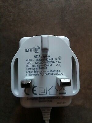 GENUINE BT video baby monitor 6000 5000 charger parent unit 089010 adaptor cable