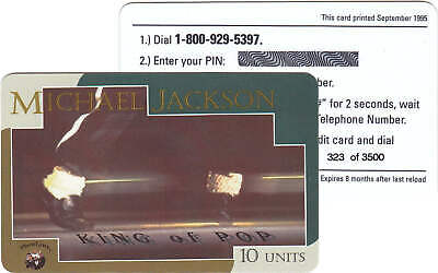 Michael Jackson Carte Telephone Phonecard Calling Phone Card USA OFFICIAL 1995