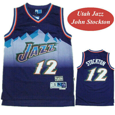 size 40 09974 4b59d 12 JOHN STOCKTON Utah Jazz Throwback Swingman Jersey ...