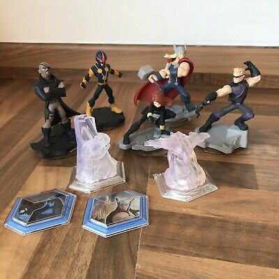 Disney Infinity Marvel Bundle - 9 Pieces inc Figures, Crystals + Expansion Discs