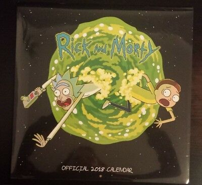 Rick & Morty Official 2018 Wall Calendar. New And Sealed