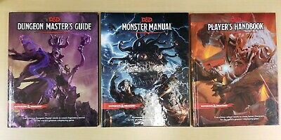 Dungeons & Dragons 5th Edition 5e Core Set  Lot (DM, Players Handbook, Monster)