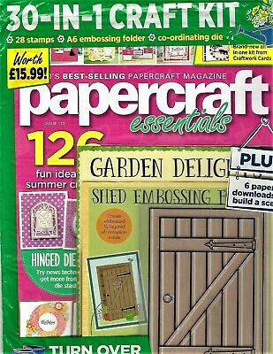 "New~""Papercraft Essentials""~#173 May 2019~126 Projects+ Free Garden Dies& Stamps"