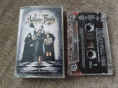 THE ADDAMS FAMILY (adams)  CASSETTE TAPE MOVIE SOUNDTRACK