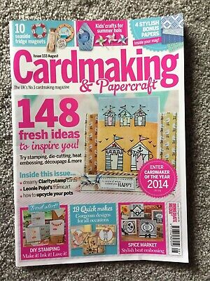 CARDMAKING & PAPERCRAFT magazine August Issue 133 book summer Kids crafts cards